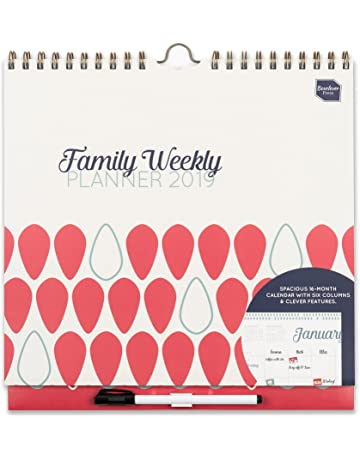 Boxclever Press 2019 Family Weekly Planner. Calendario de pared familiar con vista semanal, columnas