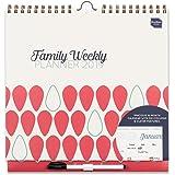 Boxclever Press Family Weekly Planner calendario familiare 2019. Calendario da muro con vista settimanale con 6 colonne. Inizia ora e dura fino a Dicembre 2019. IN INGLESE