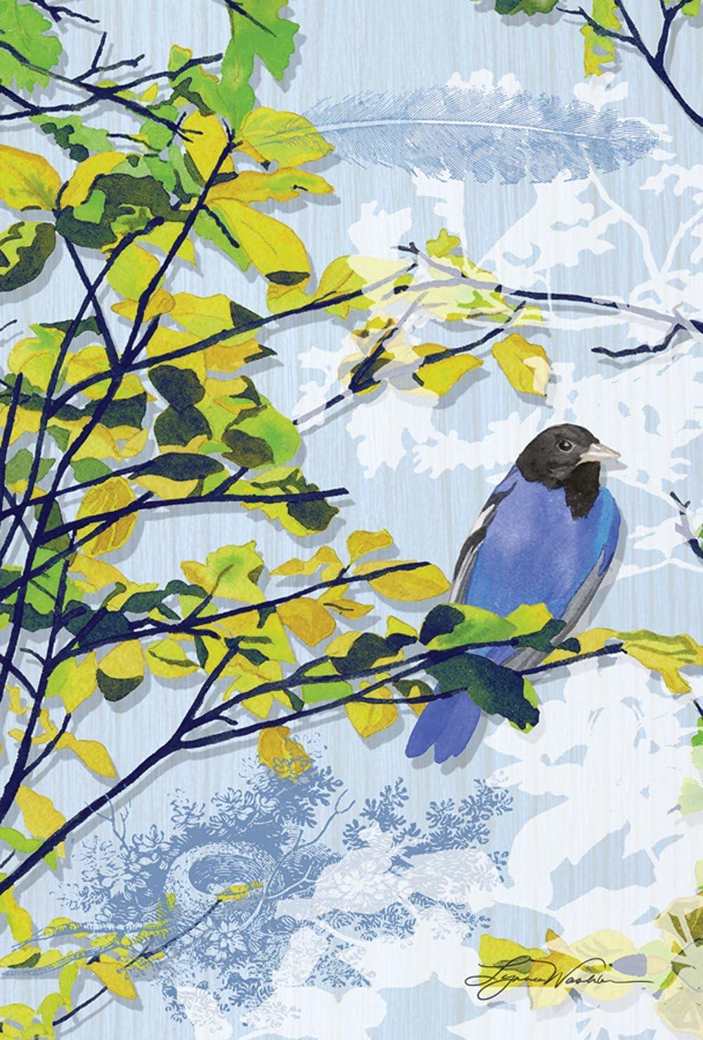 Toland Home Garden 119995 Black and Blue Bird 12.5 x 18 Inch Decorative, Garden Flag-12.5