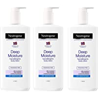 NEUTROGENA Norwegian Formula Deep Moisture Hypoallergenic Body Lotion (Pack of 3) For Dry Skin - (13.5oz or 400ml)
