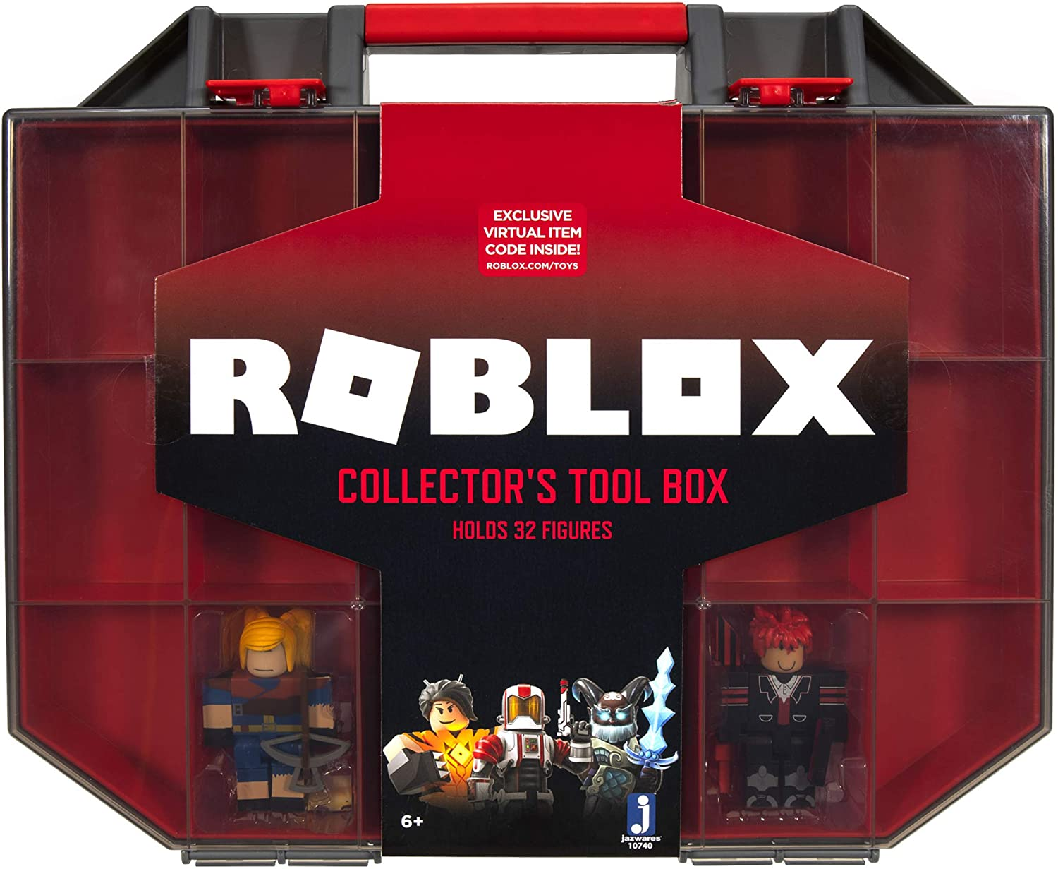 Roblox Collector/'s Tool Box Storage Case w// 2 Figures Exclusive Action Figures
