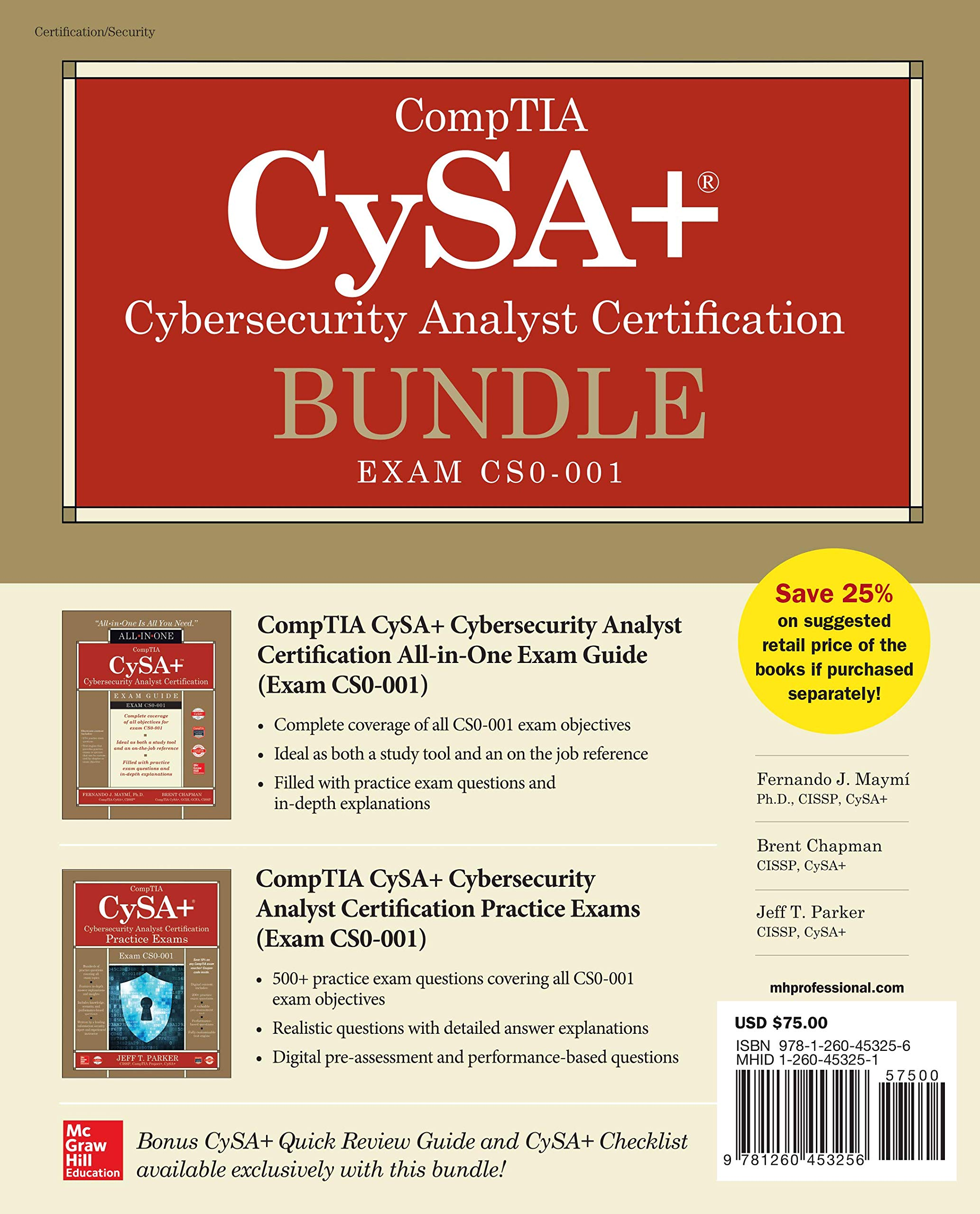 CompTIA CySA+ Cybersecurity Analyst Certification Bundle (Exam CS0-001) by McGraw-Hill Education