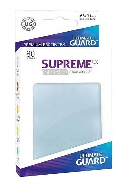 Ultimate Guard - Fundas Suprema Unidades, tamaño estándar, 80 Unidades, Transparente (10533)
