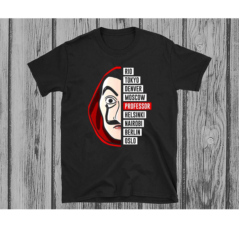 La Casa De Papel Tv Series Mask Tokiyo Professor T Shirt Men Women Unisex