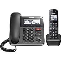 Panasonic Sistema de teléfono Extensible con Cable/inalámbrico con contestador automático y Bloqueo de Llamadas con un…