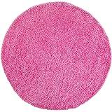 Shaggy-Teppich, Flauschiger Hochflor Wohn-Teppich, Einfarbig/Uni in Pink für Wohnzimmer, Schlafzimmmer, Kinderzimmer, Esszimmer, Größe: 120 x 120 cm Rund