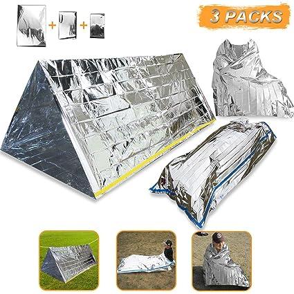 3 en 1 emergencia supervivencia manta para tienda de campaña saco de dormir, Wady Tubo