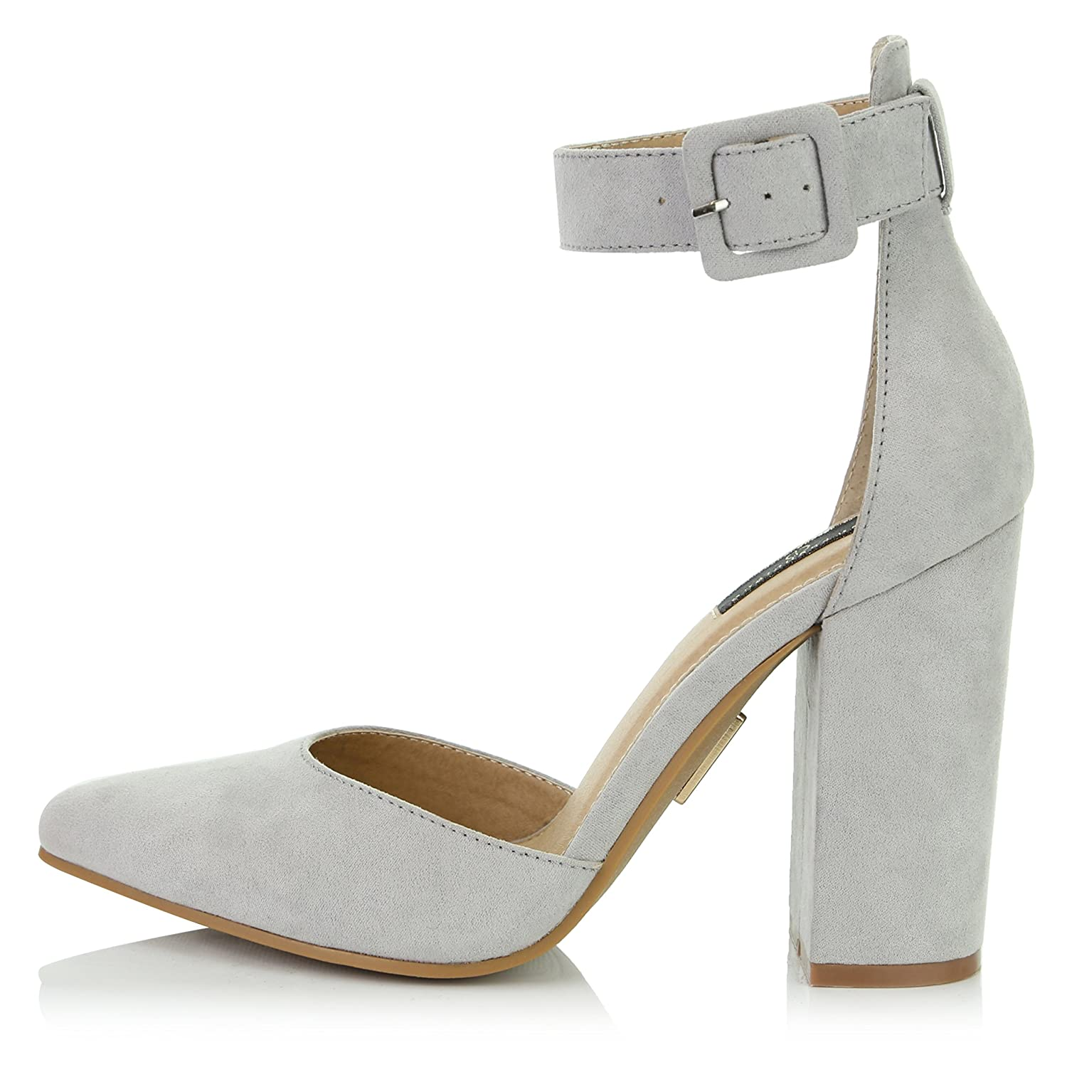 8ce7af9bdf6910 DailyShoes Women s Fashion Pointed Toe Chunky Ankle Strap Buckle High Heels  Shoes  1540998288-227119  -  20.01