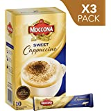 Moccona Instant Coffee Sweet Cappuccino - 10 Individuals Sachets (150g x 3 Packs)
