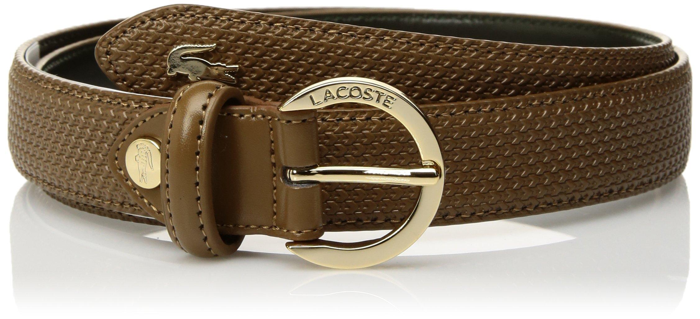 Lacoste Women's Premium Chantaco Coated Leather Belt, Breen, 39 in