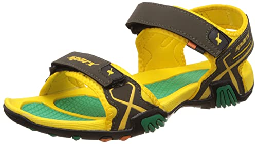 ac2ee6249 Sparx Men s Olive and Yellow Athletic   Outdoor Sandals - 10 UK India (44