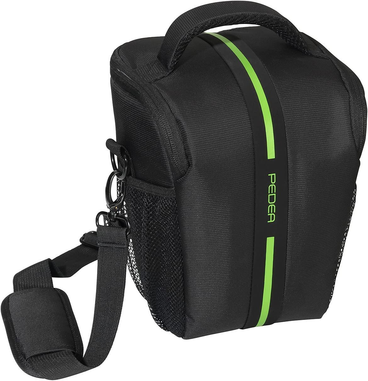 Nikon D800 Pedea SLR Camera Bag Toploader with Shoulder Strap K-30 5X Accessory Compartments and Screen Protector for Pentax K-5 K-r Canon EOS 5D Mark 2