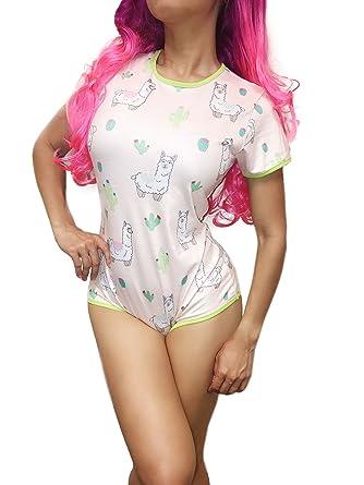 ENVY BODY SHOP Adult Baby & Diaper Lover(ABDL/DDLG/Little Space) Snap  Crotch Little Llama