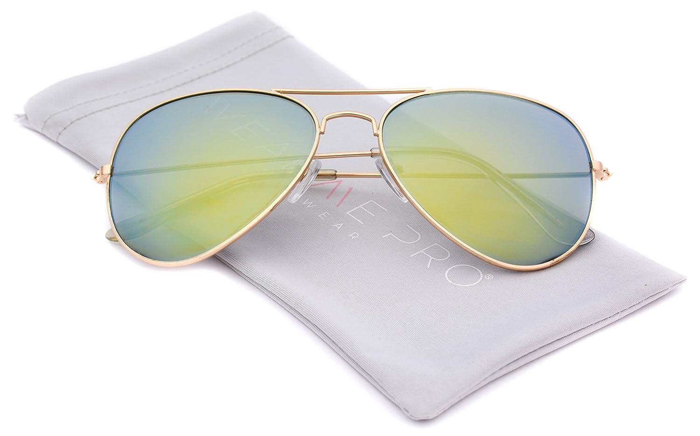 1f001353eab0 hot sale 2017 Premium Full Mirrored Aviator Sunglasses w  Flash Mirror Lens