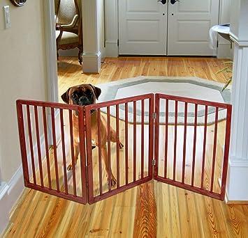 Amazon Com Pet Parade Folding Wood Pet Gate Animal Safety Fence Pen