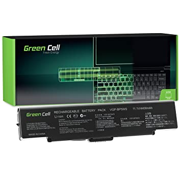 Verde Cell® – Batería para ordenador portátil Sony VAIO pcg-7131p negro negro Standard