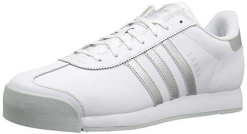 competitive price e7bbb 3e5ff Adidas ORIGINALS Men s Samoa Retro Sneaker,White Metallic Silver Light Grey, 8.5