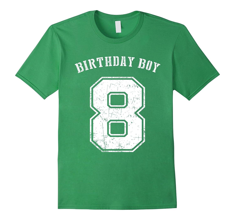Birthday Boy 8th Tshirt 8 Years Old For Kids BN