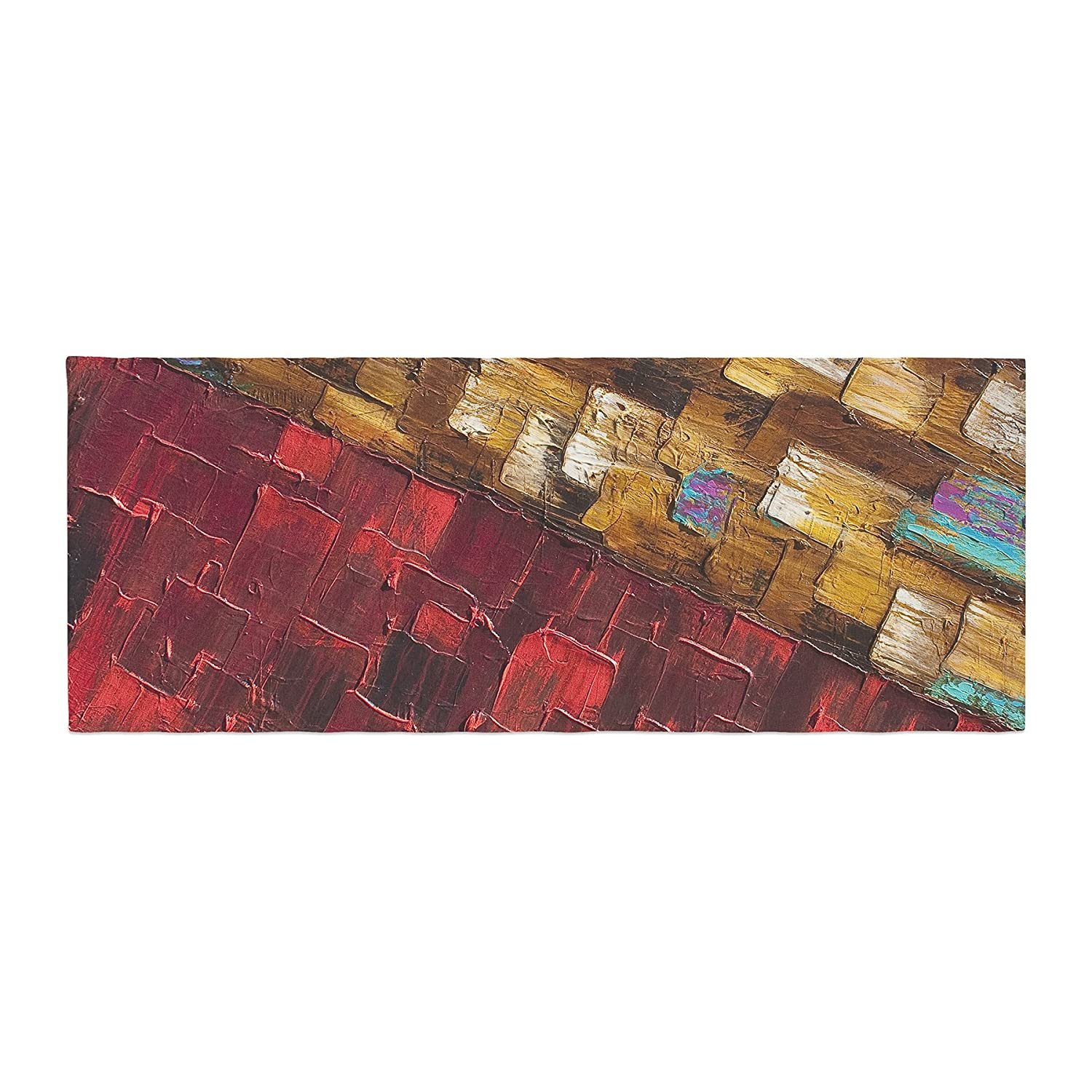 Kess InHouse SD1020ABR01 Steven Dix Movement Beneath Red Gold Bed Runner, 34 X 86, 34 X 86