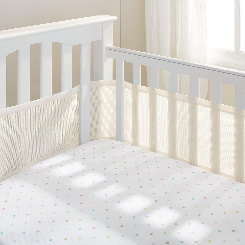 BreathableBaby Mesh Crib Liner-Gray Mist 10118