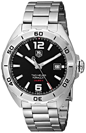0c78ebb80ad3 Image Unavailable. Image not available for. Color  TAG Heuer Men s WAZ2113. BA0875 Stainless Steel Automatic Watch