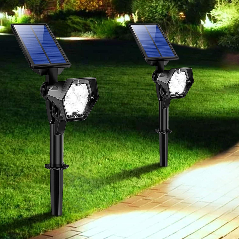 Solar Power LED Spotlight Garden Spot Light Outdoor Lawn Landscape Wall Light