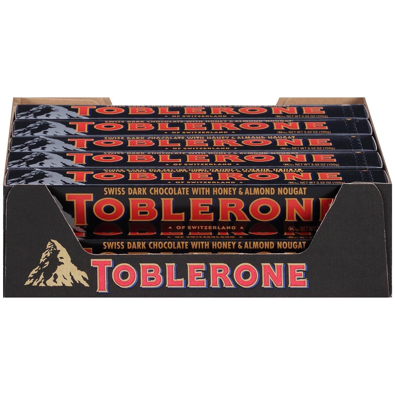 Amazon.com : Toblerone Chocolate Bar, Dark, 3.52 Ounce (Pack of 20 ...