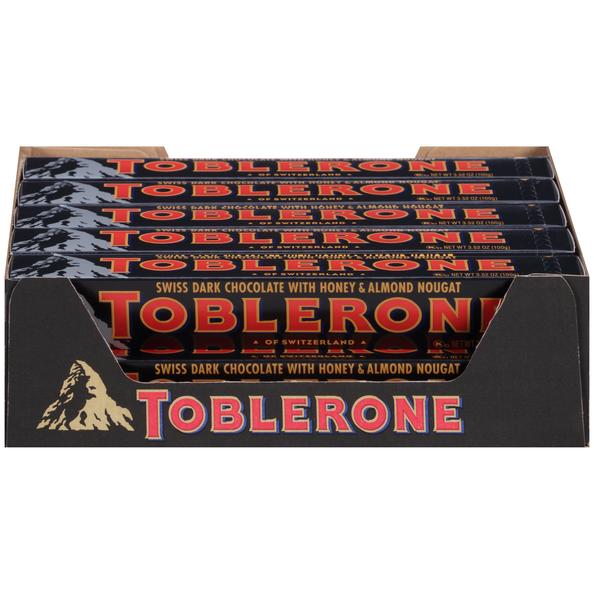 Toblerone Chocolate Bar, Dark, 3.52 Ounce (Pack of 20) by Toblerone
