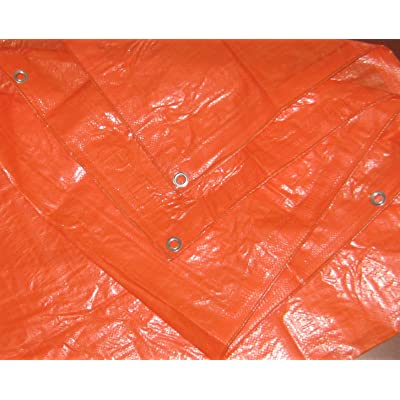 High Visibility Orange Tarp 3.3 OZ., 10'x12'