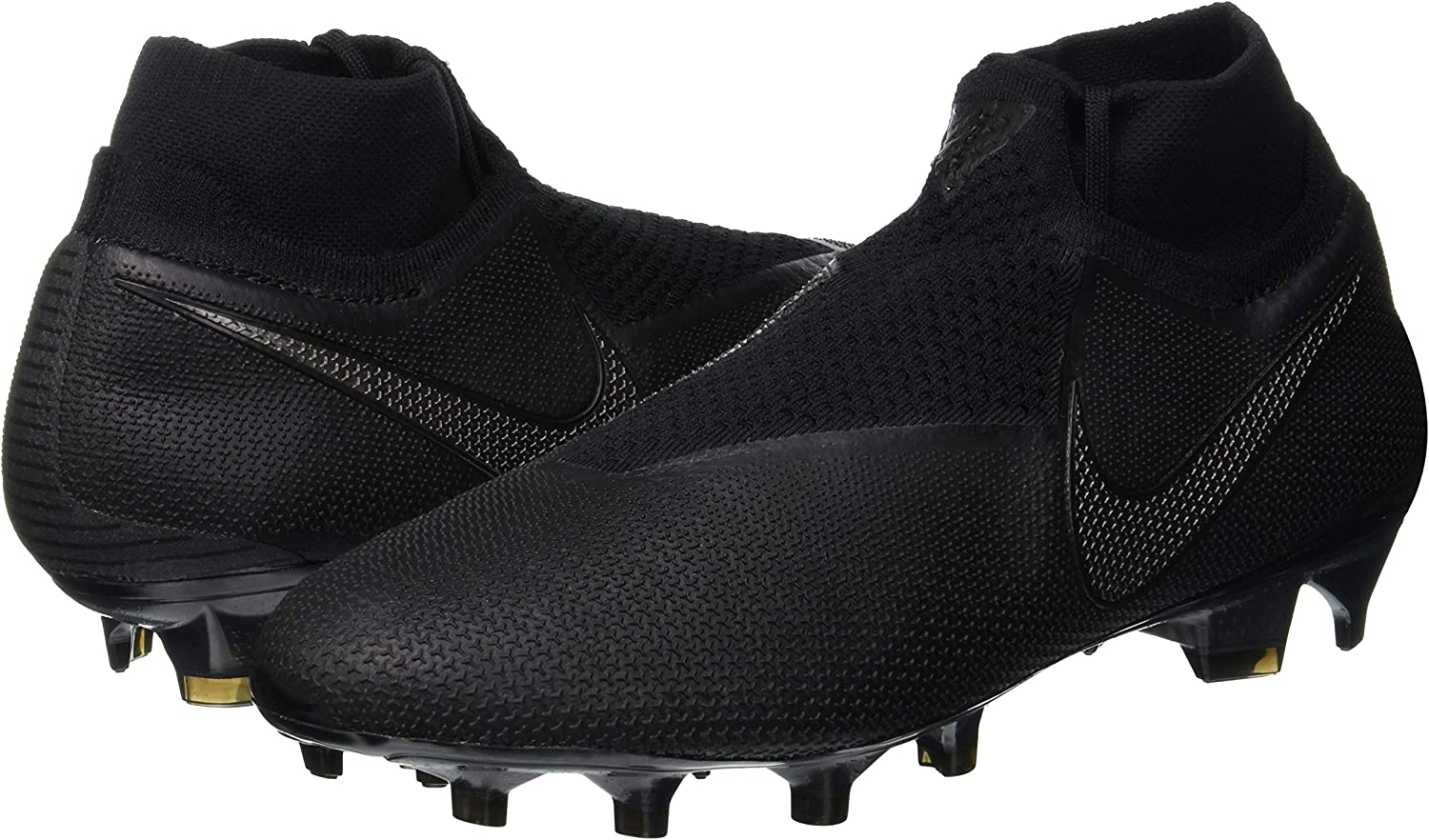8.5 Nike Mens Phantom VSN Elite DF FG Black//Black