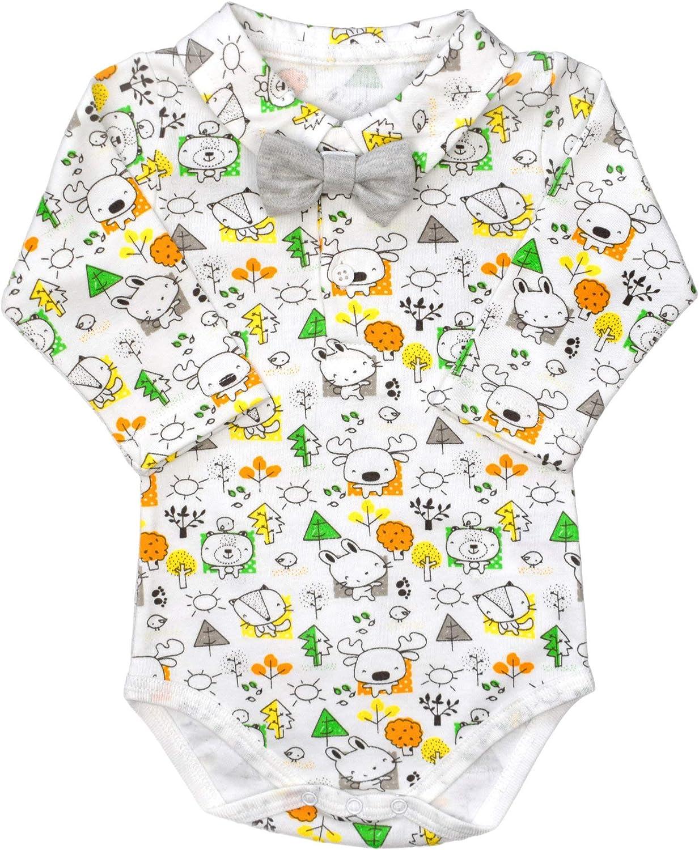 bebepan Jungen Babyanzug Body Weste Hose Neugeborenen Set Erstlingsset Erstausstattung M/ützeWickeloberteil Hose mit Fu/ß Unisex