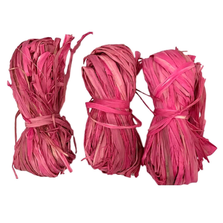 Natural Raffia 3 Bundle Pack Pink Greenbrier 4336881845