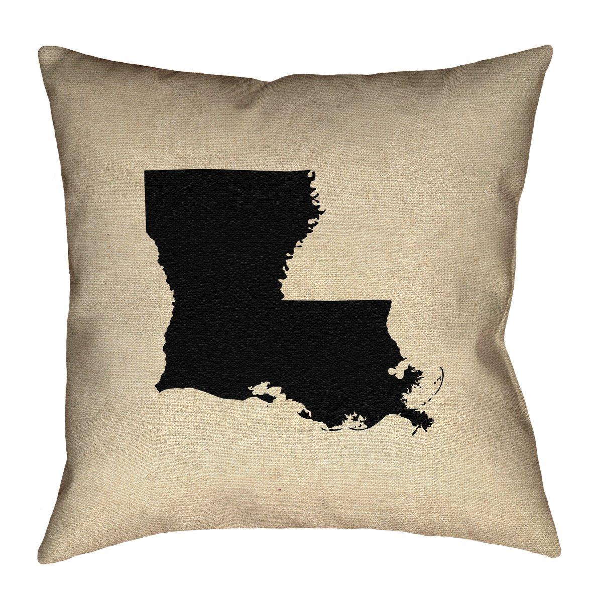 ArtVerse Katelyn Smith 20 x 20 Indoor//Outdoor UV Properties-Waterproof and Mildew Proof Louisiana Pillow