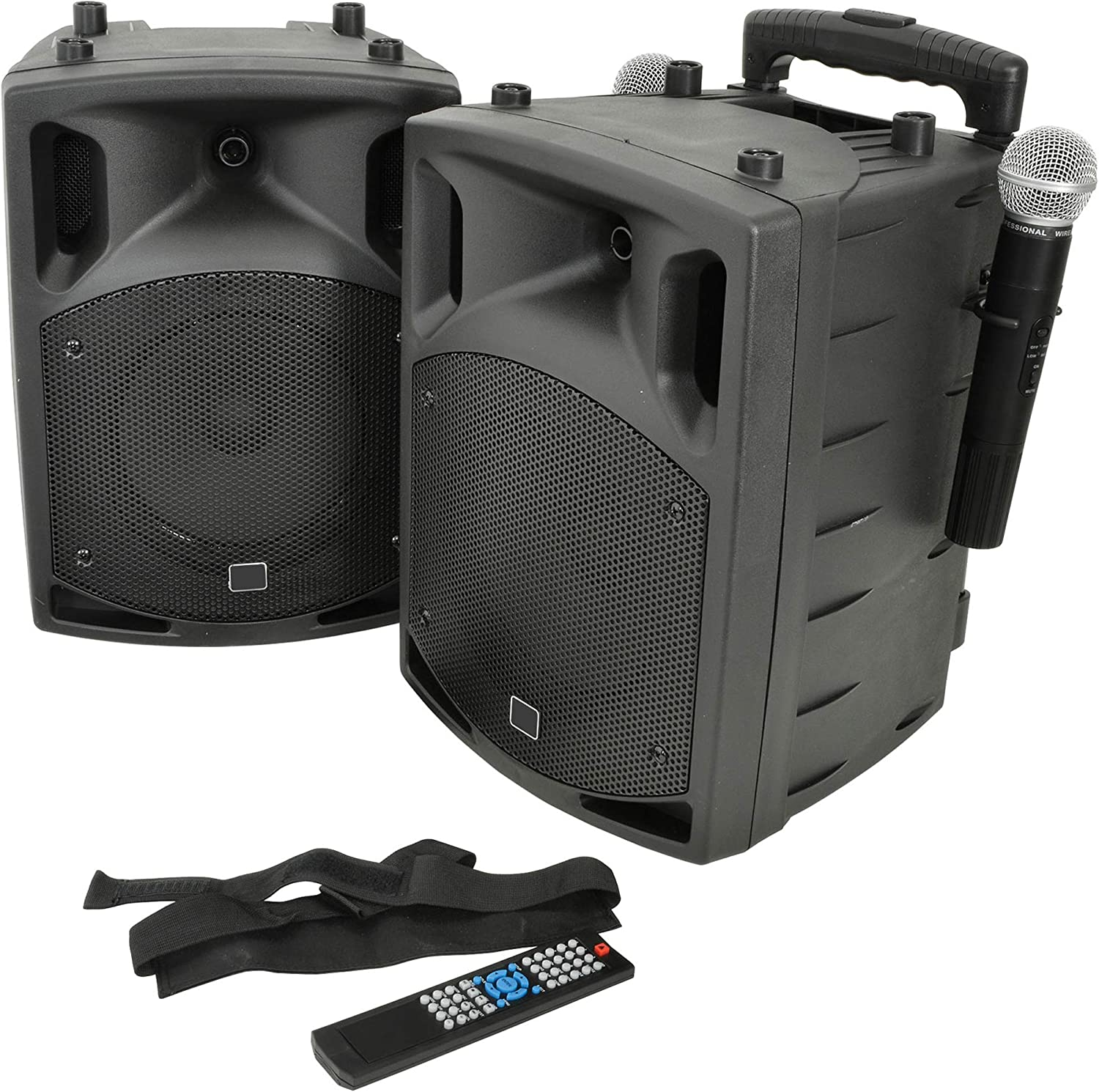 8x 8W Outdoor Portable PA Speaker System – Bluetooth: Amazon.co