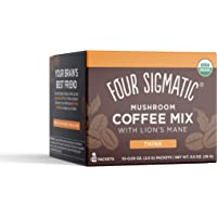 Four Sigmatic Mushroom Coffee with Lion's Mane & Chaga for Concentration + Focus, Vegan, Paleo, Gluten Free, 0.09 Ounce…