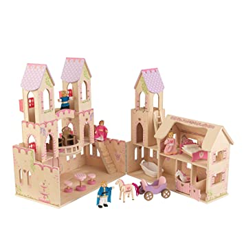 Kidkraft  Maison De Poupees En Bois Princess Castle Incluant Accessoires Et Mobilier  Etages