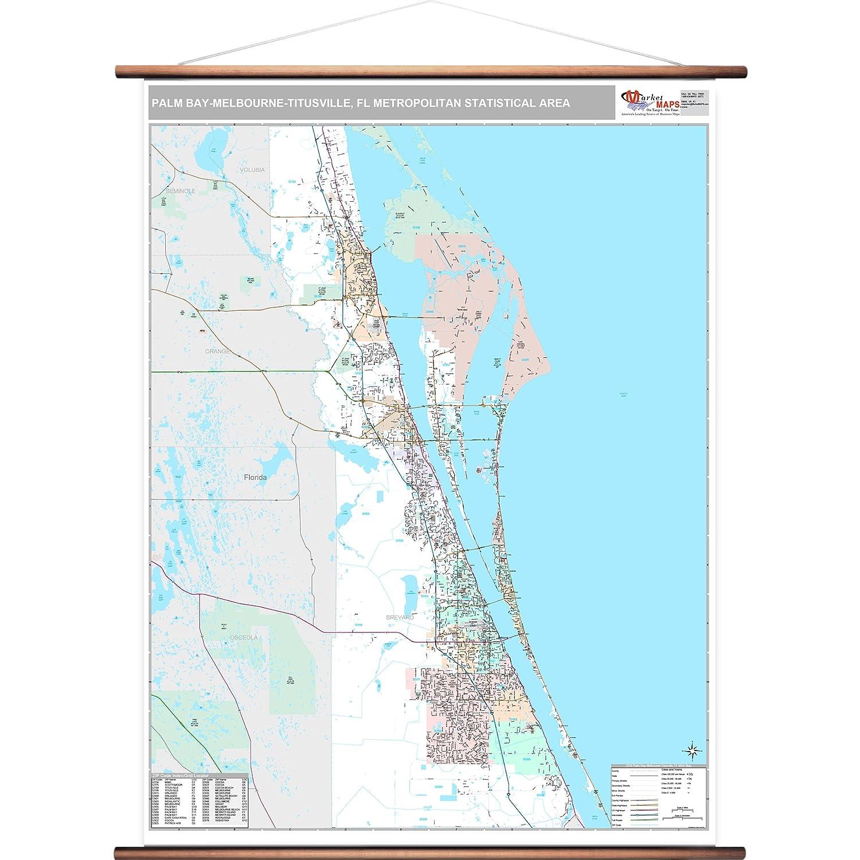Palm Bay Florida Zip Code Map.Amazon Com Marketmaps Palm Bay Melbourne Titusville Fl Metro Area