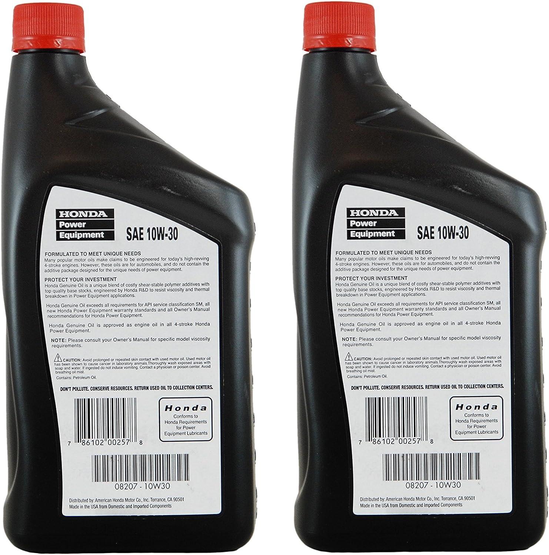 Amazon.com: Honda 08207-10W30 PK2 aceite para motor: Jardín ...