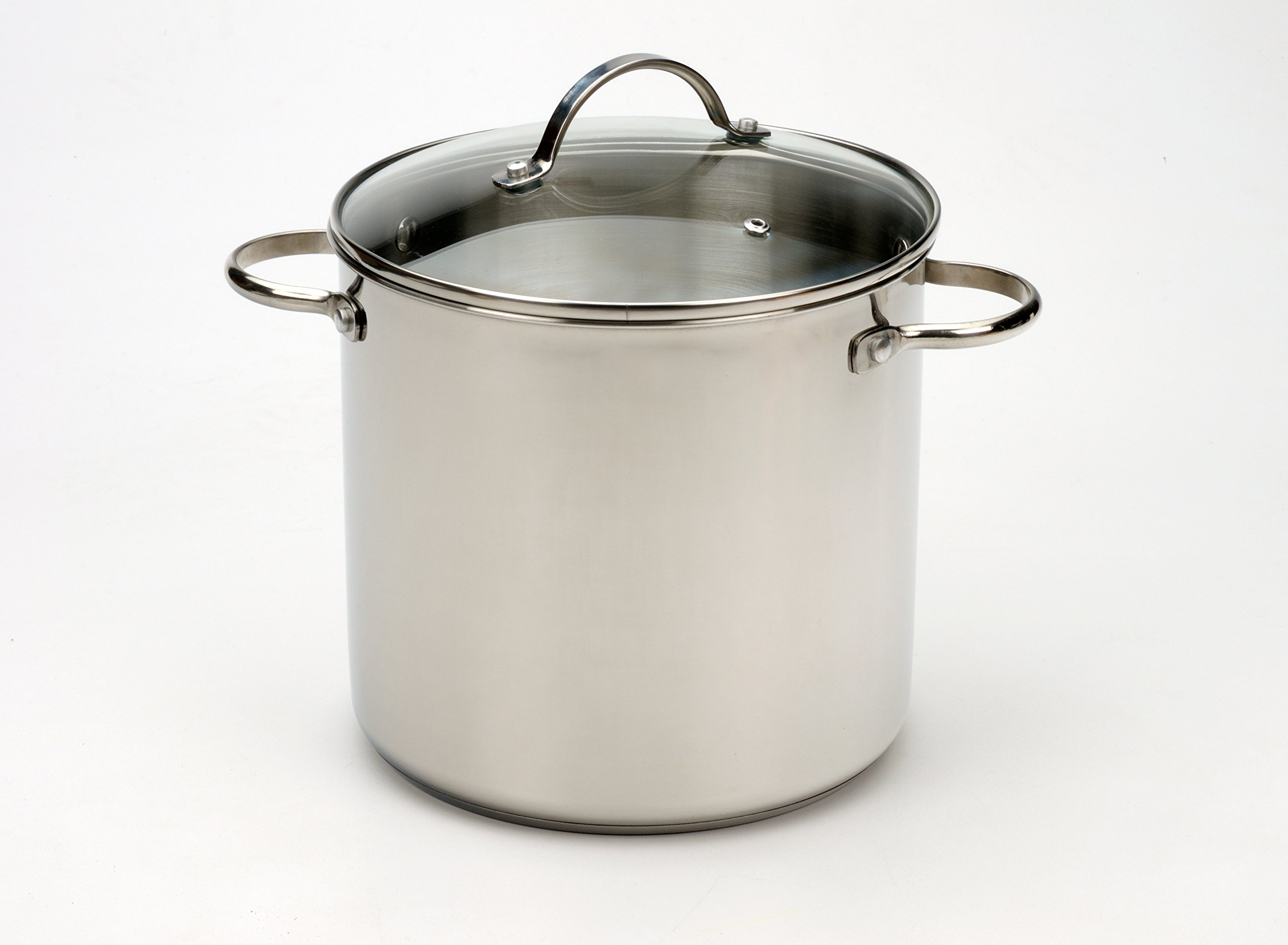 RSVP International TGP-8IN Stainless Steel Stock Pot, One Size, Multi Color by RSVP International