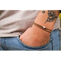 Discreto brazalete Pulsera para hombres - noble brazalete envolvente para hombres Minimalista - infinitamente ajustable…