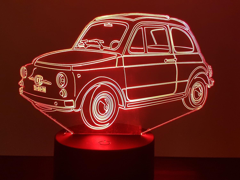Lampe 3D Motif: Voiture Fiat 500