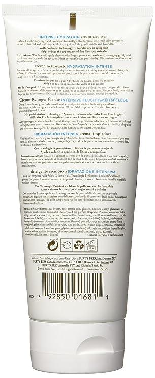 Las abejas de Burt Intensivo Crema Hidratante Limpiadora Paquete 1er (1 x 170g): Amazon.es: Belleza
