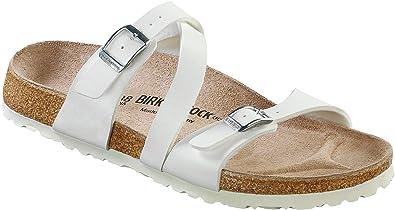 BIRKENSTOCK Classic Salina Birko-Flor Damen Pantoletten, Weiß (WEISS), 37 EU