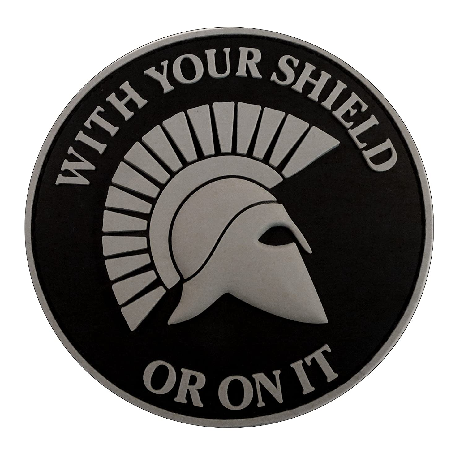 ACU Gray Spartan Helmet WITH YOUR SHIELD OR ON IT PVC 3D Gomma Hook-and-Loop Toppa Patch 2AFTER1 P.1711.2.V