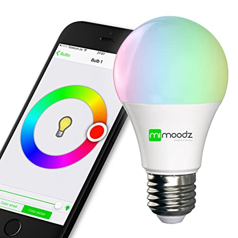 iphone controlled lighting. Mimoodz Bluetooth Smart LED Light Bulb IPhone Controlled Dimmable Multicolored Color Changing Party Works Only Iphone Lighting E