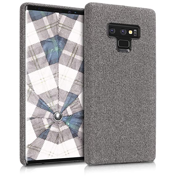 buy online 0fe62 13c87 kwmobile softcase Cover for Samsung Galaxy Note 9 - TPU Silicone Cover case  with Fabric Cover in Canvas Dark Grey