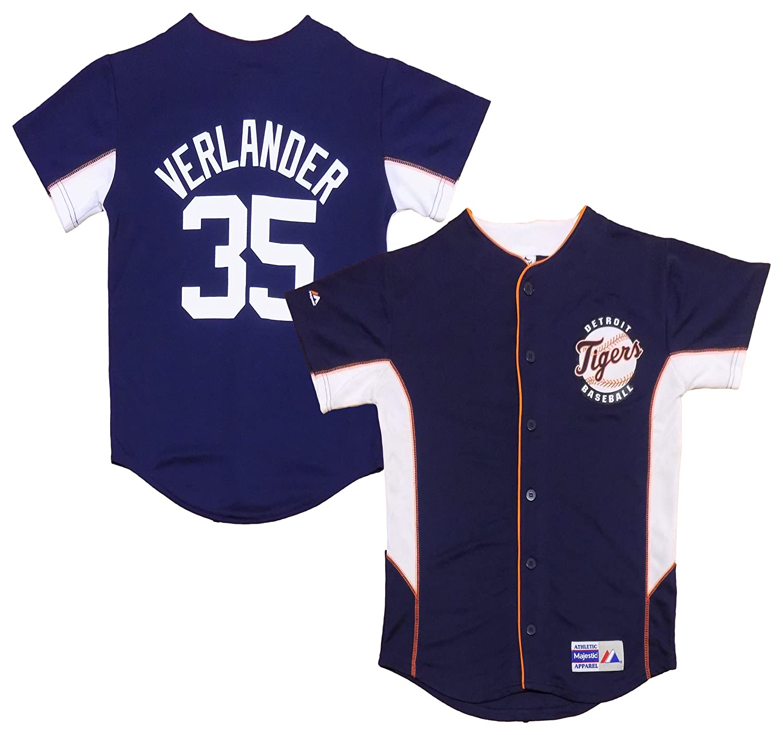 uk availability e8b79 177be Amazon.com: Justin Verlander Detroit Tigers Navy Blue Kids ...