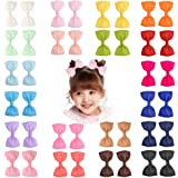 "40 Pieces 3"" Baby Girls Grosgrain Ribbon Bows Hair Bow Clips Barrettes For Girl Teens Kids Babies Toddlers by Prohouse"