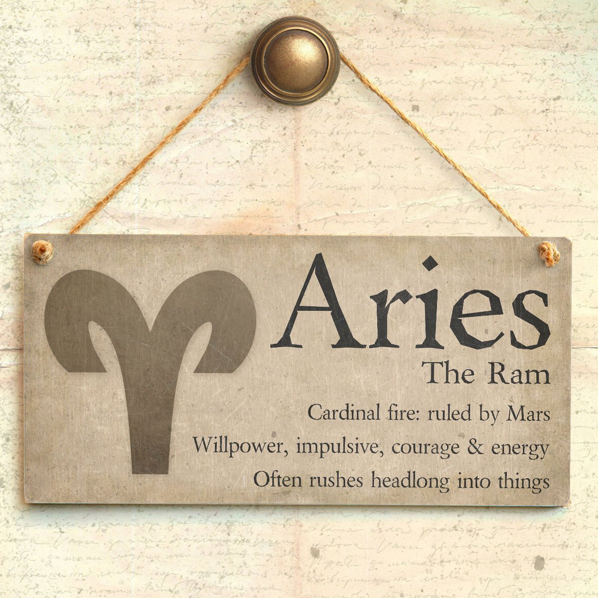 Meijiafei Scorpio The Scorpion - Beautiful Spiritual Gift Astrology Sign of The Zodiac Plaque 10' X 5'