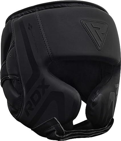 BooM Pro Leather Boxing Head Guard Halmet Boxing MMA Martial Arts Head Protector